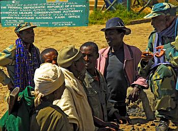 Ranger und Guides am Simien-Mountains-Nationalpark